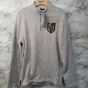 Adidas Las Vegas Knights Sweater 1/4 Zip New 90$